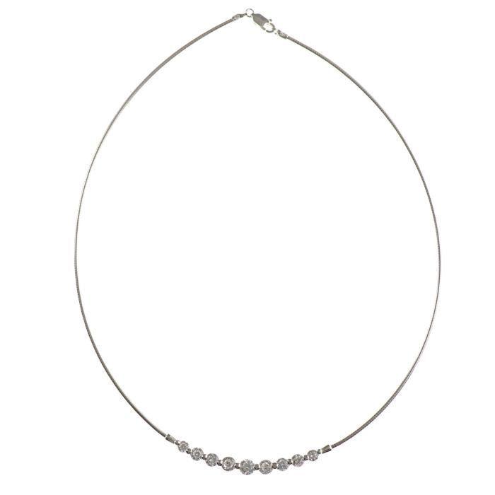 Collier Femme - Nks-k30040 - Argent 925-1000 11.5 Gr - Oxyde De Zirconium CL1E7