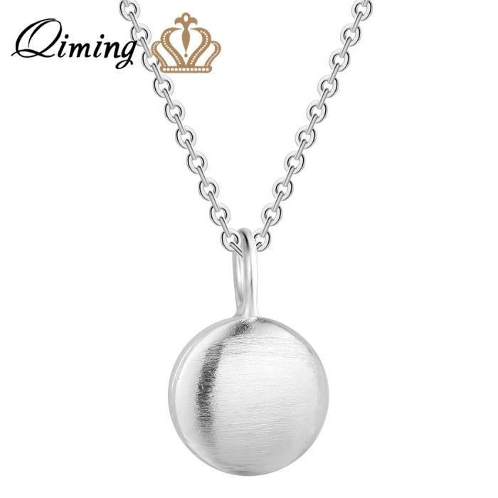 411c95cfb35 925 Sterling Argent Bijoux Accessoires De Mode Femmes Ronde Charme Simple  Collier Cercle De Mariage Bijoux Collier