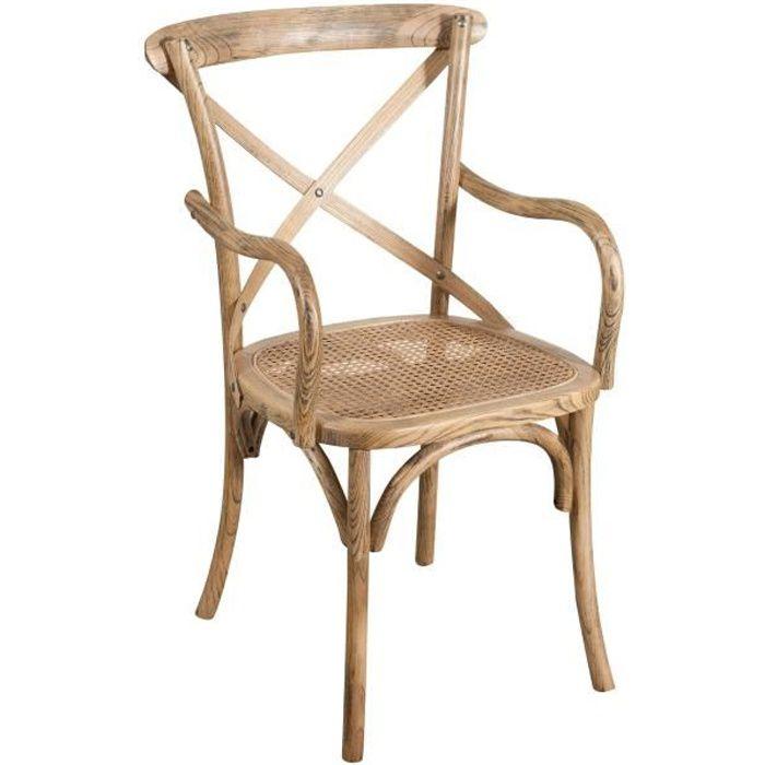 Chaise En Bois Avec Assise En Paille Achat Vente Pas Cher