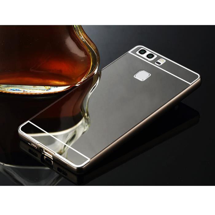 HOUSSE , ÉTUI EvaGreen Coque Huawei P9 Plus Noir/Motif Le miroir