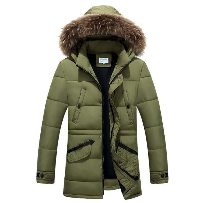 parka homme capuche fourrure doudoune homme duvet hiver marque paisse manteau homme hiver. Black Bedroom Furniture Sets. Home Design Ideas