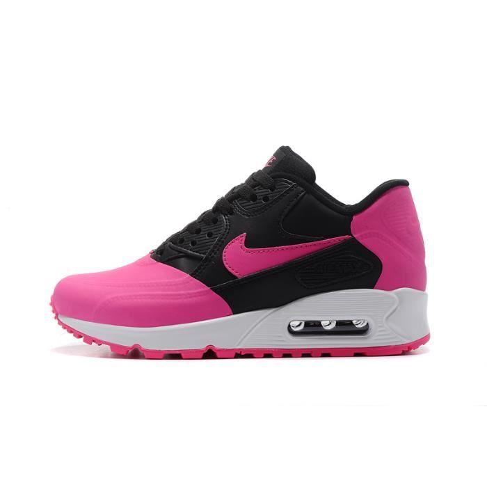 low priced 8870b 6f51e ... cheapest baskets nike air max 90 premium chaussures de running femme  entrainement noir rouge aca02 8f069