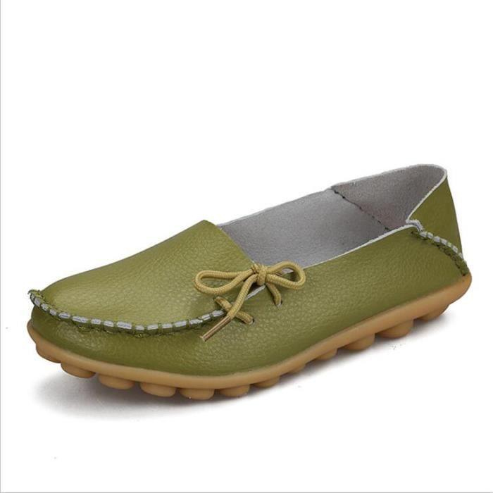 Loafer femme cuir 2017 ete Respirant Loafers femmes Nouvelle arrivee Durable marque de luxe Plus Grande Taille 34-44