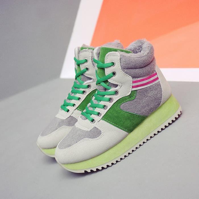 Basket Chaussures de sport en cachemire pour femmes haut pour aider à calmer les chaussures en coton