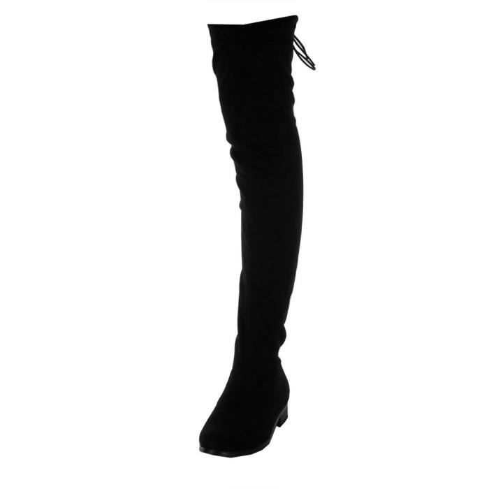BOTTE Angkorly - Chaussure Mode Cuissarde Botte souple c