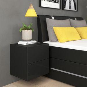 chevet haut achat vente chevet haut pas cher soldes. Black Bedroom Furniture Sets. Home Design Ideas