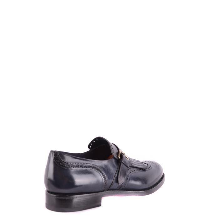 Mcbi267024o Bleu Cuir Homme Santoni Chaussures HqFaUn5