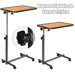 table ordinateur a roulette prix pas cher cdiscount. Black Bedroom Furniture Sets. Home Design Ideas
