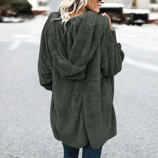 Dames Les Parka Manteau Reservece Outwear Vert Chaud Gilet Femmes Veste Hiver gnAqTwaq8