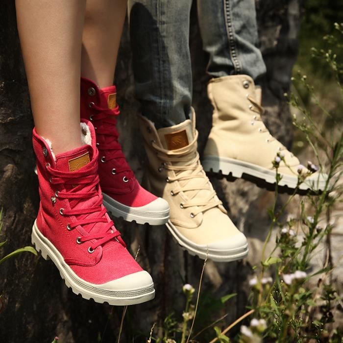 Chaussures couples Bottes courtes Bottes avec coton Bottes hiver Chaussures mode Bottes mode Chaussures chaudement Chaussures