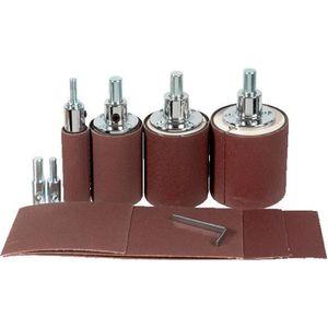 MANCHON ABRASIF Coffret de 4 cylindres de ponçage universels pour
