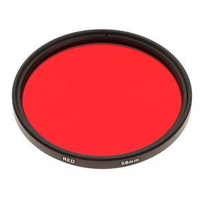 COMPLÉMENT OPTIQUE Filtre Photo Rouge 58mm