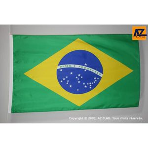 DRAPEAU - BANDEROLE Drapeau Brésil 150x90cm - brésilien