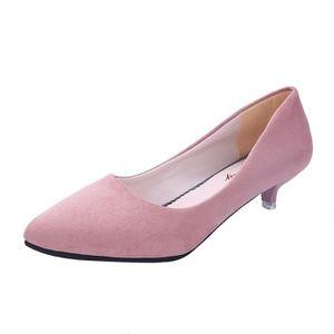 SANDALE - NU-PIEDS Femmes Mode Nu Shallow Bouche élégante dames Burea