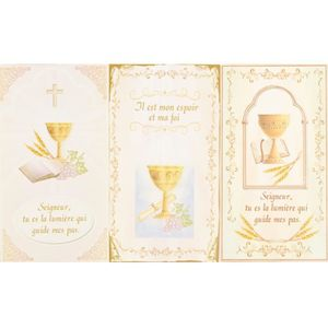 DECORATION DE TABLE Lot De 6 Cartes Remerciements Pour Communion