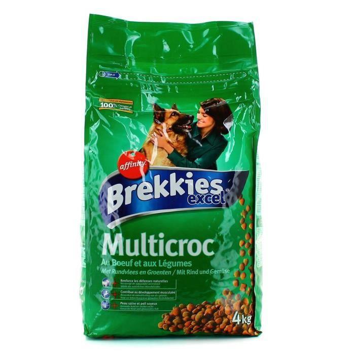 BREKKIESCroquettes b?uf et légumes Multicroc - Chien - 4 Kg