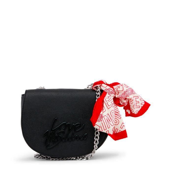 Petit sac bandoulière noir détail Love Moschino noir Noir