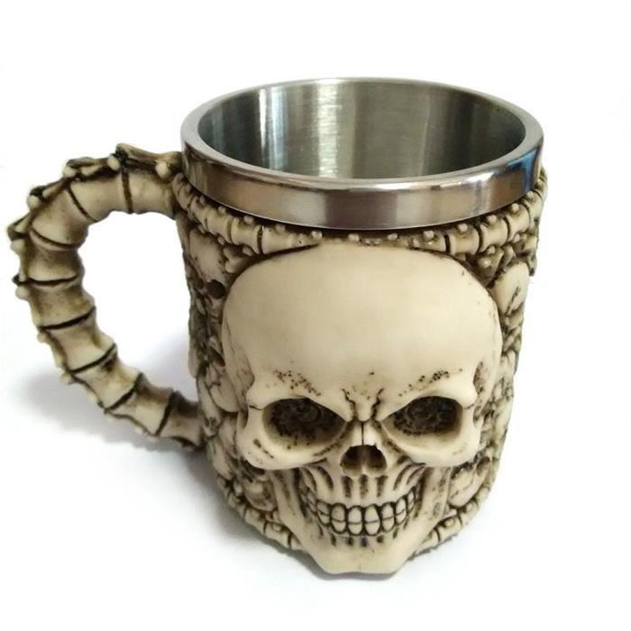 Café Acier Crâne 350ml Tasse Mug Halloween En Décoré byf76g