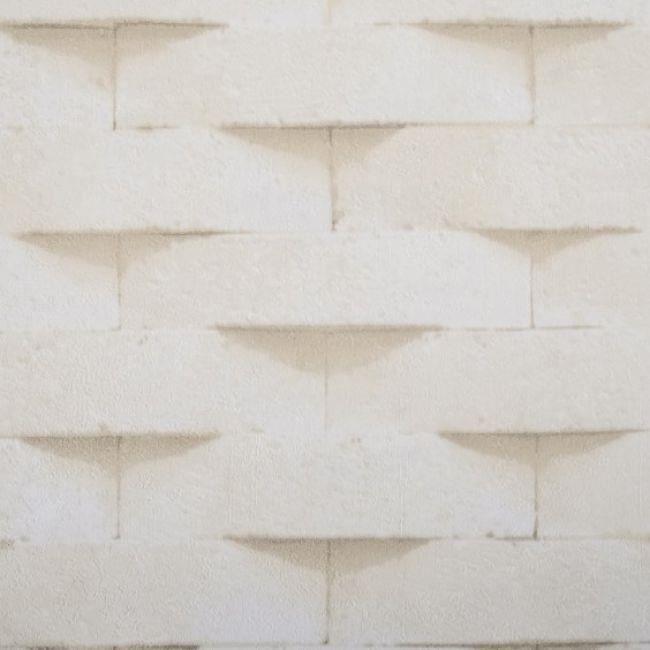 Papier Peint 3d Effet Brique Beige 5 3m2 Achat Vente Papier