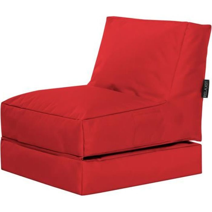 fauteuil multifonction twist rouge by sittingpoint achat vente chauffeuse 100 polyester. Black Bedroom Furniture Sets. Home Design Ideas