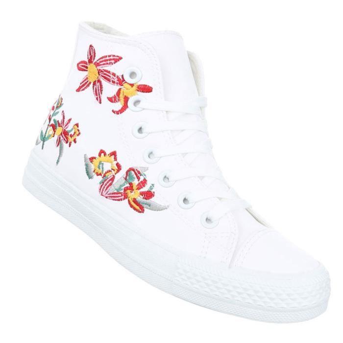 Femme chaussures de loisirs chaussures Sneakers chaussures de sportblanc 41 dRX3L