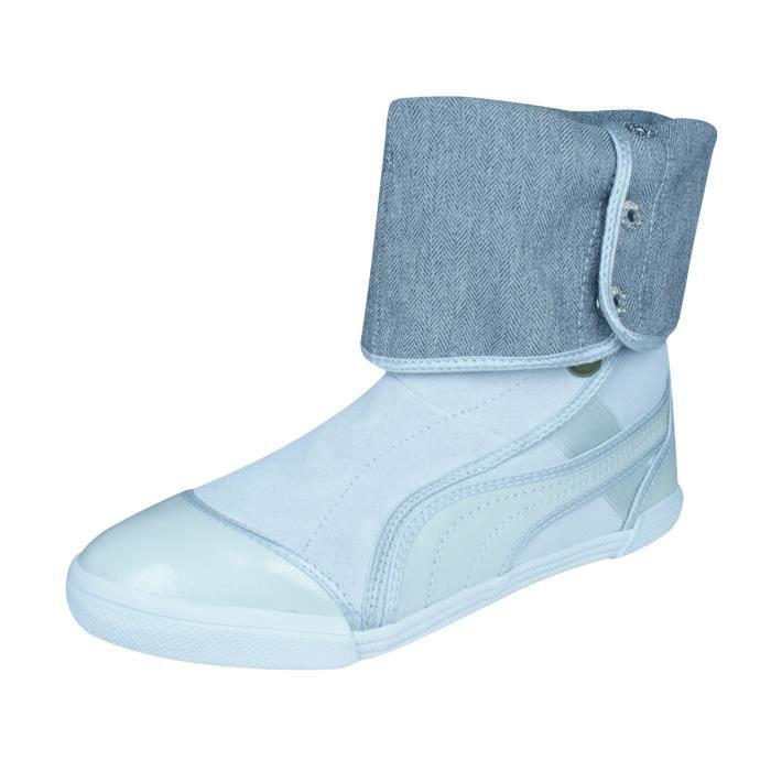 Puma Sugie Suede Bottes Femmes - ChaussuresArgent 8