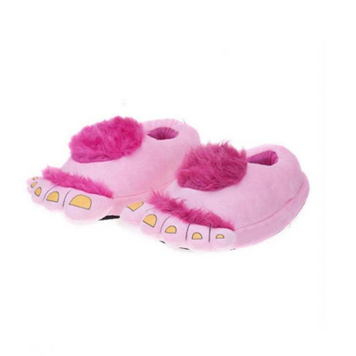 Pantoufles monstre Bigfoot cartoon Coton slippers BJYG-XZ036Marron44 TdeS0RYdd