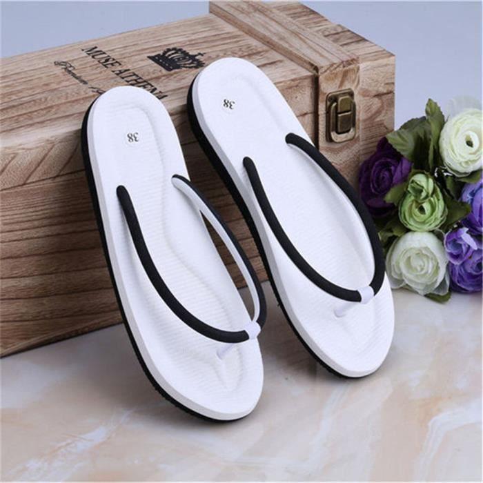 Tongs femme Nouvelle Mode femmes Sandales Confortable Sandale femme De Plein Air Sandales Pour La Plage Plus Taille 35-39,noir,38