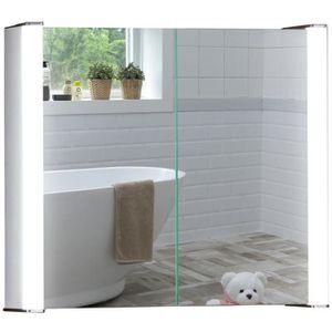 armoire de salle de bain avec eclairage et prise achat vente pas cher. Black Bedroom Furniture Sets. Home Design Ideas