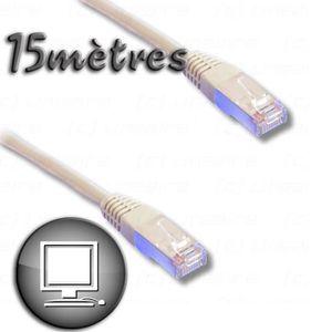 CÂBLE RÉSEAU  Câble RJ45 cat.6 blindé FTP 15m