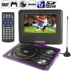 LECTEUR DVD PORTABLE DVD rose Console jeux portable 7 pouces (MP3,MP4,T