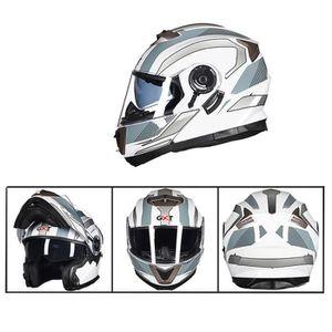 CASQUE MOTO SCOOTER Casque moto Cross Adult Anti-buée Couverture Intég