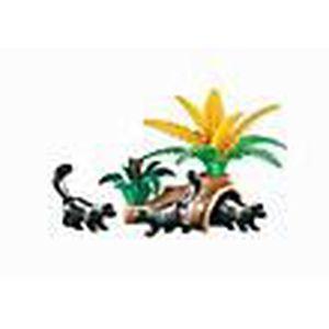 FIGURINE - PERSONNAGE PLAYMOBIL 6358 Moufettes avec souche d'arbre