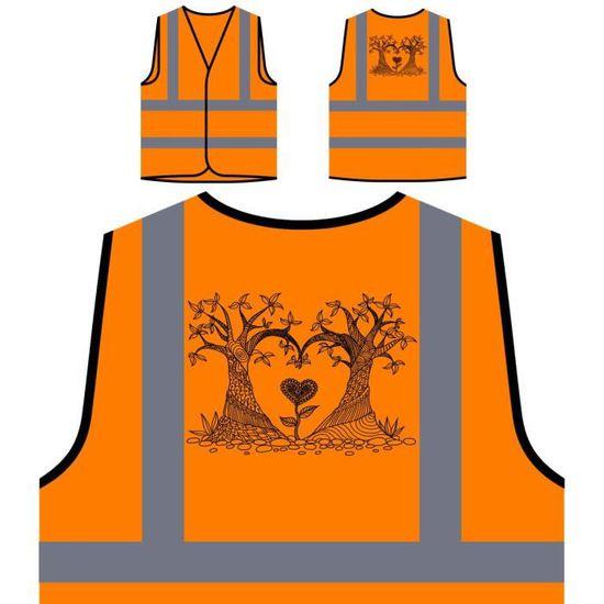 Main arbre À De Veste Personnalisée Dessiné Orange La Haut Visibilité Protection Haute dFv0q0WIn