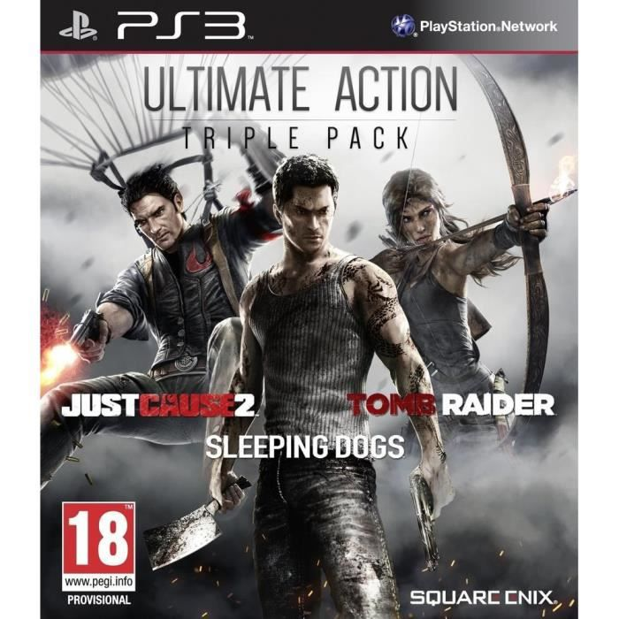 Pack Tomb Raider+Just Cause 2+Sleeping Dogs PS3 - Achat / Vente jeu ps3 Action Pack 3 Jeux PS3 ...