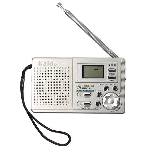kaide k555 am fm mini radio portable voyage d 39 accueil poche lcd affichage num rique r veil. Black Bedroom Furniture Sets. Home Design Ideas