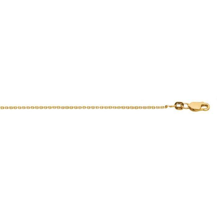 Couleur-Argent 925/1000 plaqué or 1,4 mm Collier Chaîne 18 -
