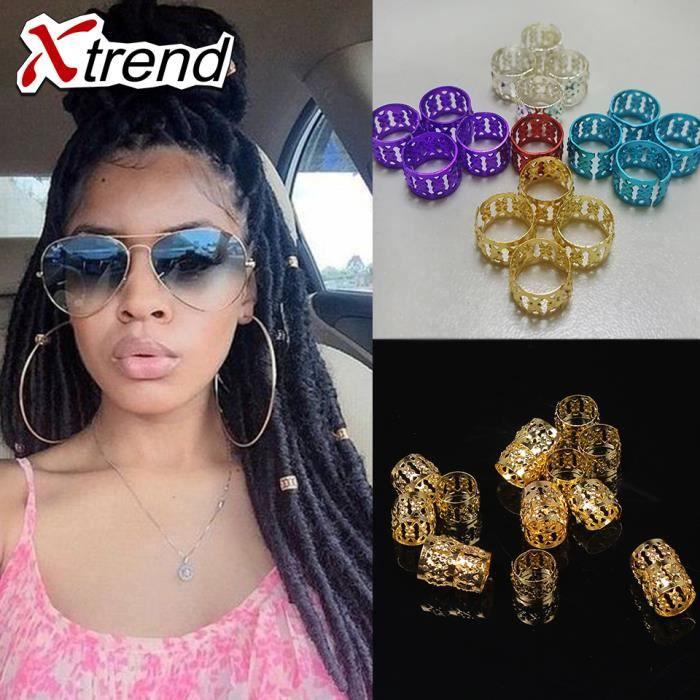 500 pièce/lot fashion golden dreadlock beads anneau à cheveux