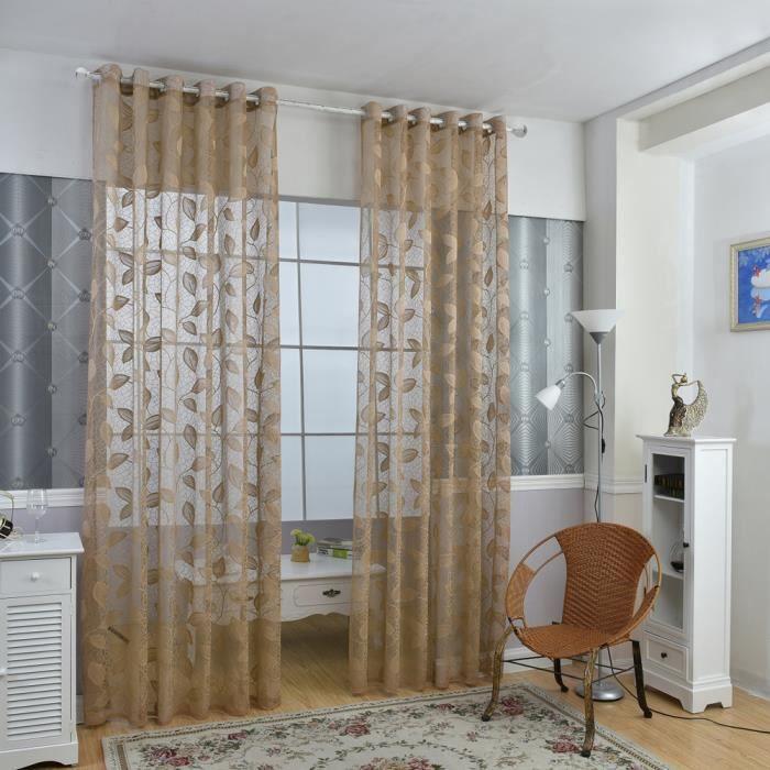 Rideaux l gante fen tre porte rideaux transparents voile for Decoration maison rideaux fenetre