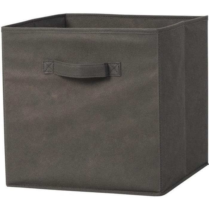cube de rangement gris anthracite 31 x 31 x 31 cm achat. Black Bedroom Furniture Sets. Home Design Ideas