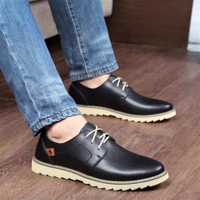 Chaussures De Cuir Homme Chaussures Respirant C... 6wPAiw3PoC