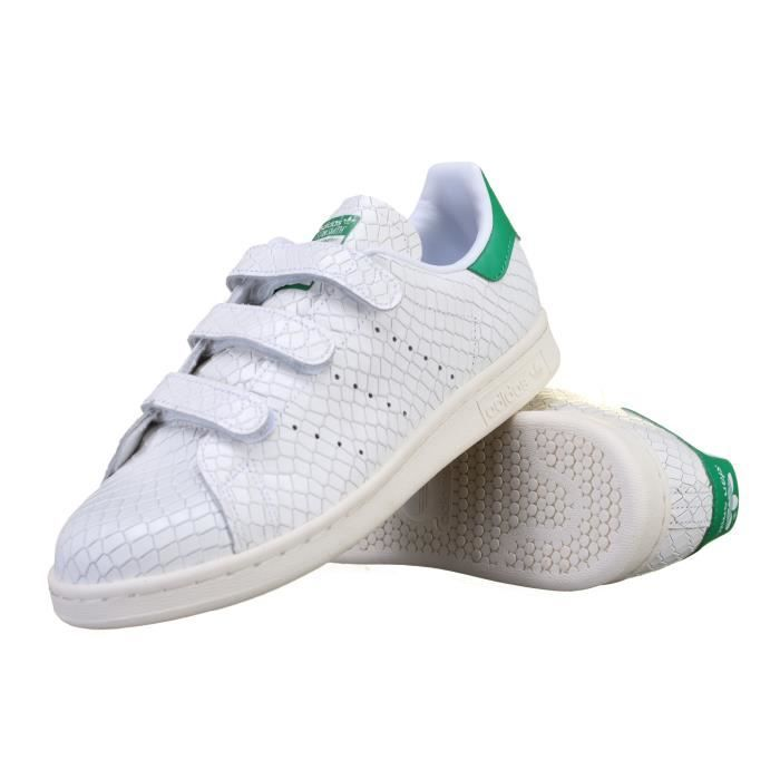 Basket Adidas Stan Smith Cfw S32171 Croco Blanc Achat