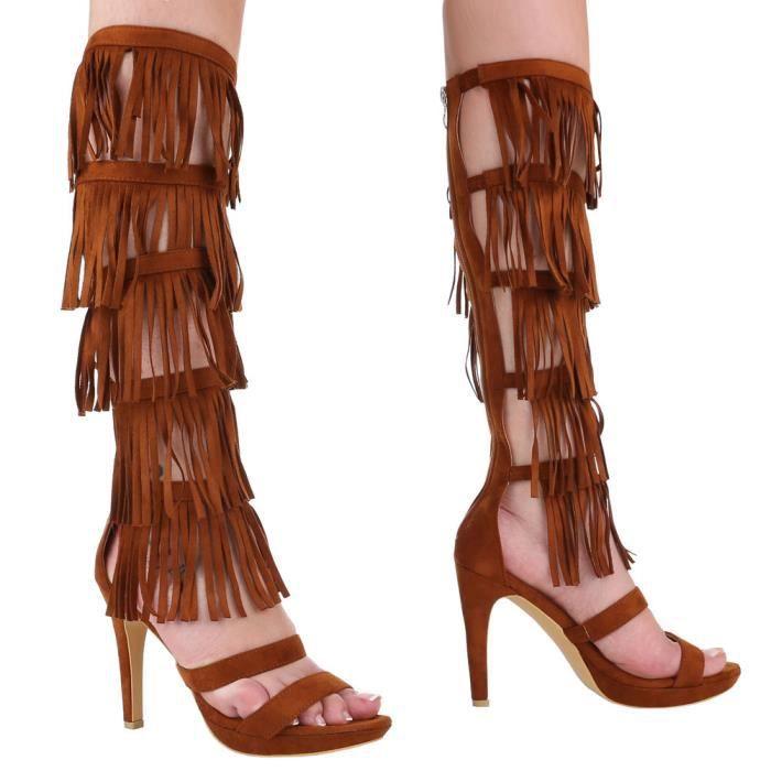 Femme sandalette chaussure escarpin effilé
