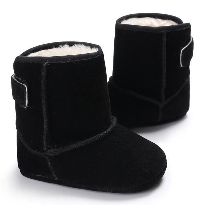 noir néonatal Soft Bottes garçons Enfant Booties de neige Toddler Chaussures Bébés de réchauffement wA7xcPqw
