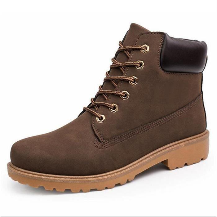 homme Bottine 2018 Nouvelle mode Hommes bottes militaires homme Bottine de securite de travail embout acier de luxe de marques