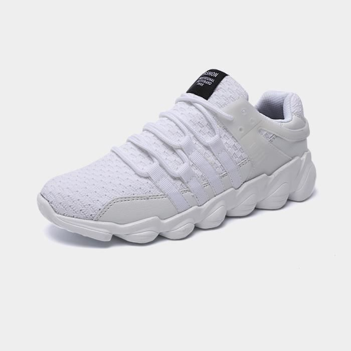 Baskets Homme Chaussure hiver Jogging Sport Ultra Léger Respirant Chaussures BWYS-XZ229Blanc40