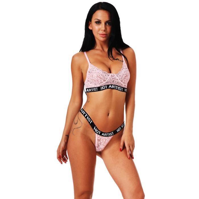 Sous Up Dentelle Bra vêtements Lingerie Rose Sexy Slip Femmes Push Set Corset zYZ76q