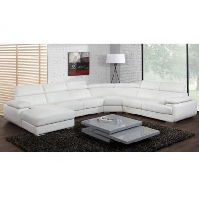 canap panoramique 7 places en cuir elevanto achat vente canap sofa divan cdiscount. Black Bedroom Furniture Sets. Home Design Ideas