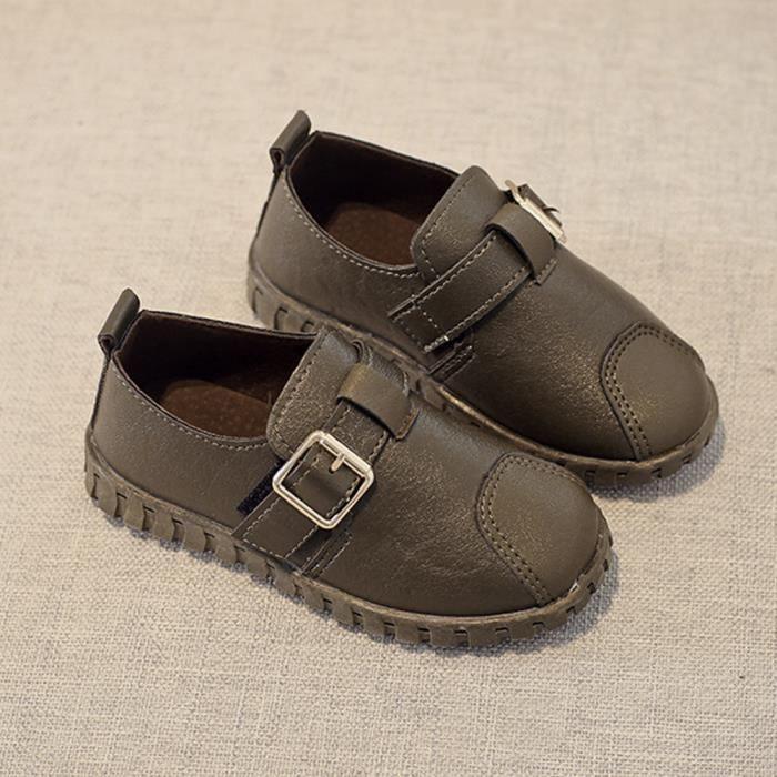 Frankmall®Filles garçons boucle douce semelle espadrilles simples chaussures occasionnelles VERT#WQQ0926407