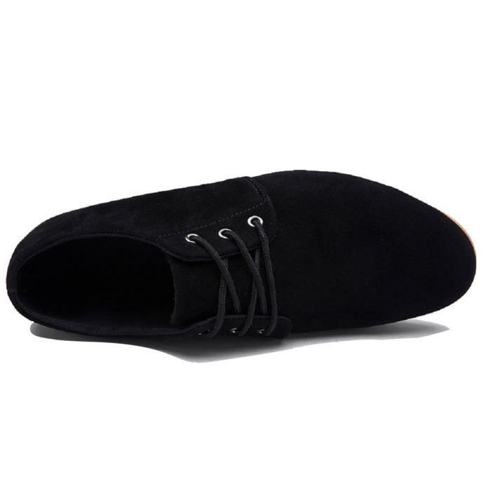 Cuir Robe Low Top de Bateau Lacets Pointu Suede D'affaires à Casual Bout Hommes Chaussures Minetom Mariée YWqn7g5P